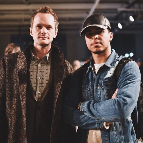 @nph and @thebrightesthour during #NYFW in his #Gents #Black #Leather #cap .  #GentsCo #menswear #mensfashion #fashion #menstyle #mensstyle #style  #mensaccessories #accessories #caps #hat #hats #baseballcap #baseballhat #NY #NewYork #NewYorkFashionWeek