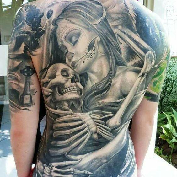 Rücken Tattoo Mann