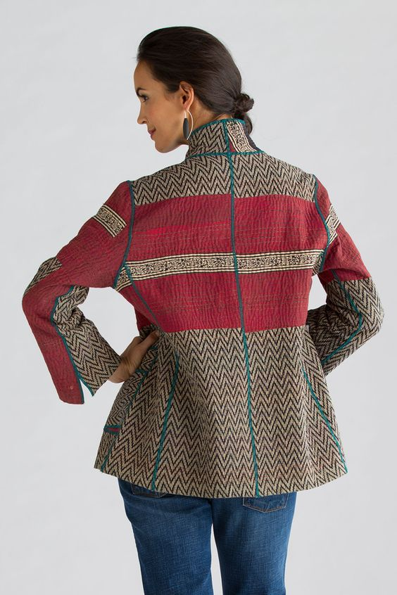 Soho Bamboo Short Jacket by Mieko Mintz (Cotton Jacket) | Artful Home: