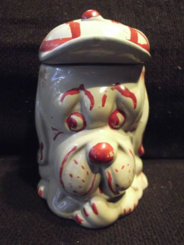 P-K-KENSINGTON-LOOK-A-LIKE-VINTAGE-COLLECTIBLE-COOKIE-JAR-DROOPY-FACE-DOG