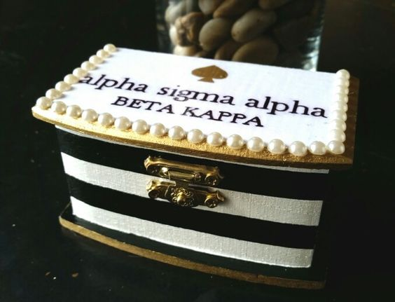 Kate Spade inspired sorority pin box