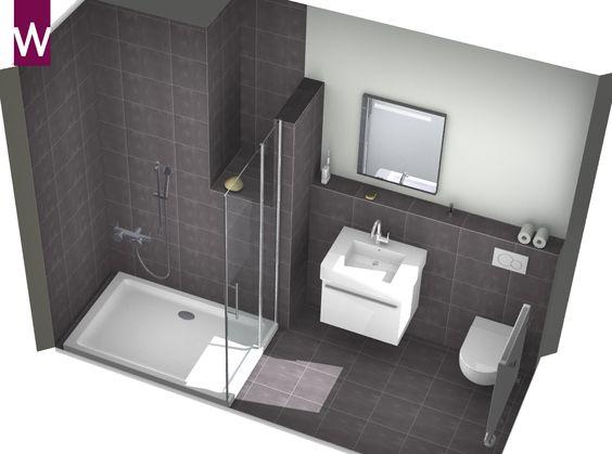 Kleine Open Badkamer ~ Kleine badkamer  Kleine badkamer  Pinterest