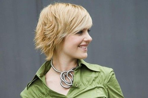 Trendy Layered Short Hairstyles for Fall: Side View Pretty close to mine right now except for brownish red