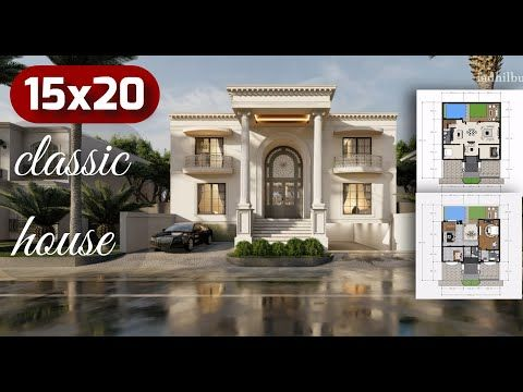 300sqm Classic House With Swimming Pool Desain Rumah Klasik 15x20 Youtube Classic House Classic House Design House