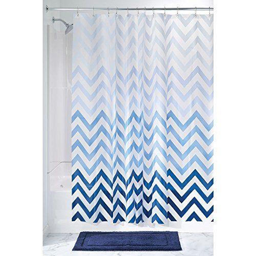 Interdesign Ombre Chevron Pvc Free 4 8 Gauge Peva Shower Https Www Amazon Com Dp B0 Chevron Shower Curtain Long Shower Curtains Extra Long Shower Curtain
