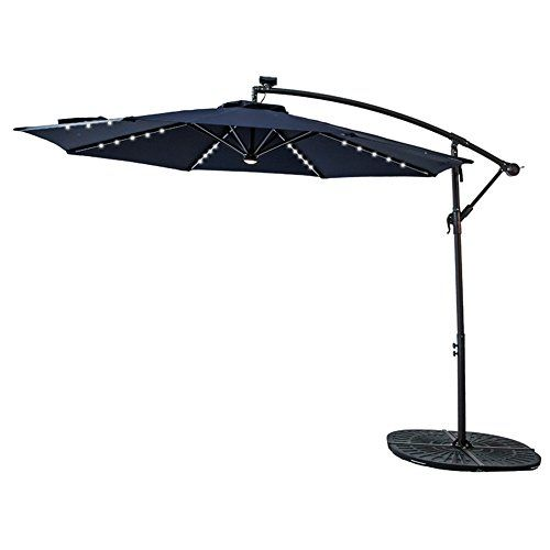 Flame Shade 10 Led Light Cantilever Offset Umbrella Han Https Smile Amazon Com Dp B079jpfytt Ref Cm Sw R Pi Patio Umbrella Patio Outdoor Patio Umbrellas