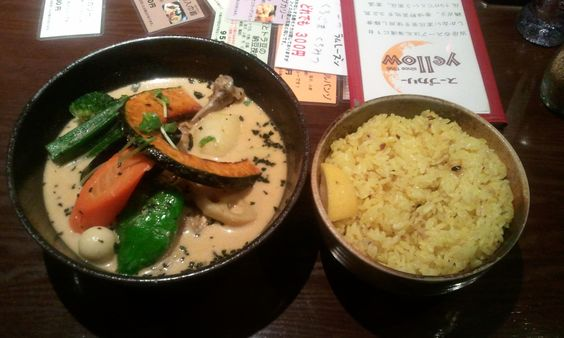 Beautiful curry I ate in Sapporo.