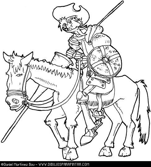 Dibujos para colorear de Don Quijote | Cervantes-Don ... - photo#13