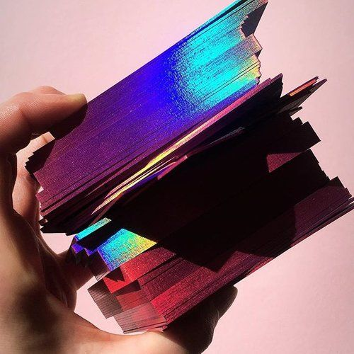 Holographic Business Cards Edge Foiling Dot Studio London Art Business Cards Fashion Business Cards Business Cards Creative
