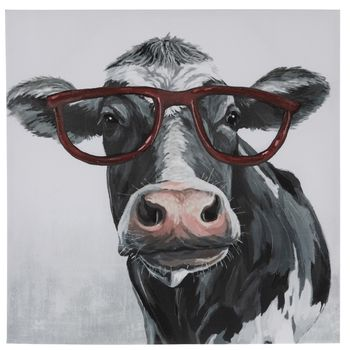 Cow Wearing Glasses Canvas Wall Decor Hobby Lobby 5228549 Canvas Wall Decor Cow Canvas Wall Canvas