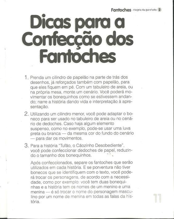 FLASH TIC TAC: DICAS PARA CONFECÇÃO DE FANTOCHES