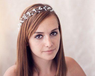 Griechischen Göttin Stirnband, Kristall Tiara