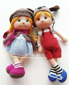 Tiny Crochet Doll Pattern Bundle | 358x289