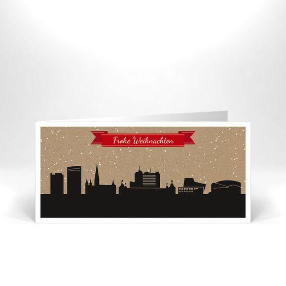Frohe Weihnachten aus Bonn - personalisierte Weihnachtskarten ab 25 Stück