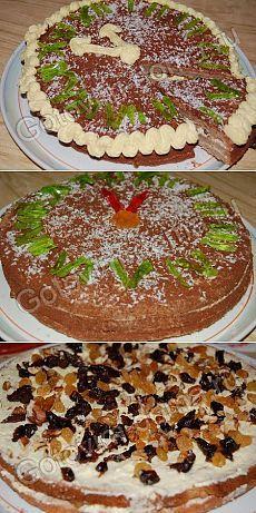 """Новогодняя выпечка. Торт """"Новогодний"""" - Антрекот - большая кулинарная книга"""
