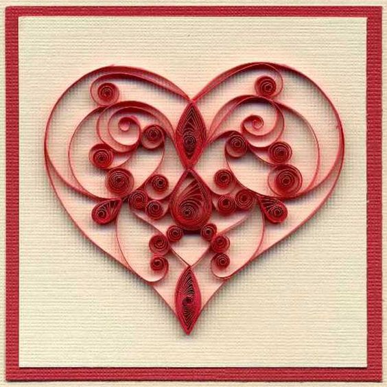quilling heart design love never fails pinterest