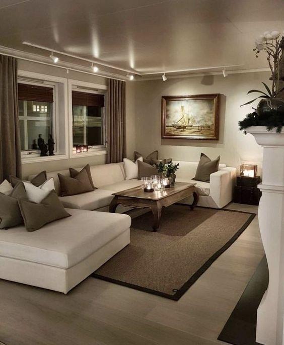 Shoulder Pad Shirt Beige Living Rooms Elegant Living Room Living Room Decor Apartment Elegant small living room designs