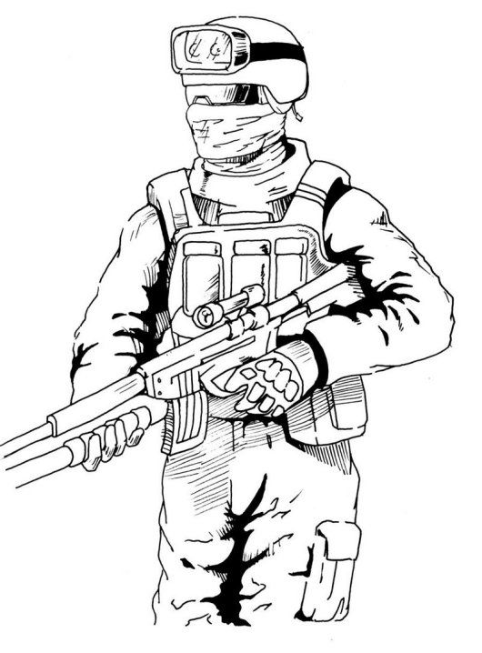 High Detailed Graphic Call Of Duty Coloring Picture Soldier Drawing Military Drawings Call Of Duty