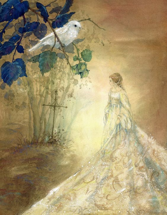A beautiful Cinderella from An Illustrated Treasury of Grimm's Fairy Tales illustrated by Daniela Drescher