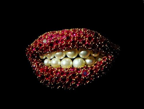 Salvador Dali ~ Spanish ~ { 11 May 1904 - 23 January 1989 } ~ Ruby Lips c. 1949 ~ http://www.curatedobject.us