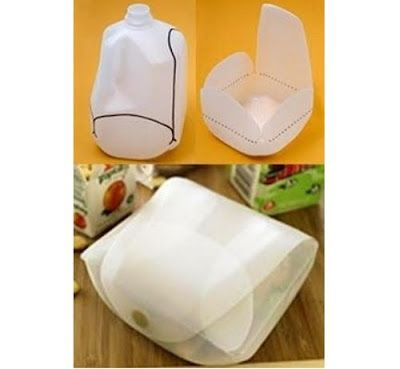 Permaculture Ideas: Recycled Milk Bottle - Lunch Box