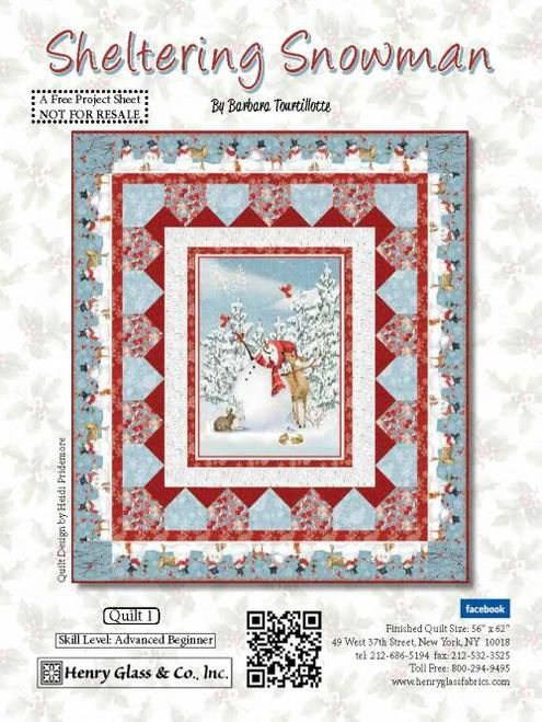 Fabric Lines Shipping Now Sheltering Snowman Henry Glass
