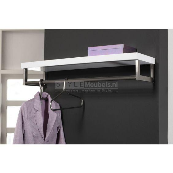 Voor in mijn wasruimte Design RVS garderobe kapstok Cher - Hoogglans ...