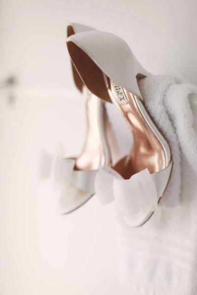 Badgley Mischka. Just a little wedding-like. #WeddingShoes | #AislePerfect: