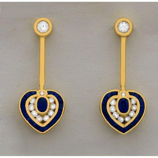 Zlote Kolczyki Z Szafirami I Diamrntami Jewelry Washer Necklace Necklace