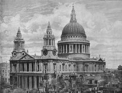 Ghosts of St Paul's Cathedral, London: Its best known ghost is the apparition of an elderly clergyman, who is accompanied by a high-pitched, tuneless whistling sound. This phantom is said to haunt All Souls' Chapel, at the cathedral's west end, on the ground floor of the northwest tower.