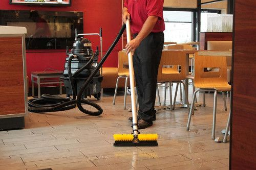 Five Tips For Keeping Commercial Kitchen Floors Clean Residential Cleaning Restaurant Cleaning Clean Kitchen Floor