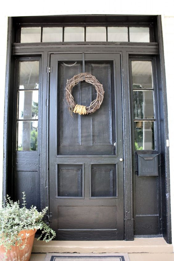 Screen doors screens and front doors on pinterest for Screen doors for front door