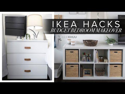 DIY IKEA HACKS | Budget Bedroom Makeover | Julie Khuu