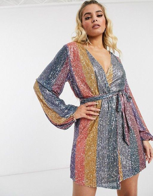 25+ Sequin wrap dress ideas