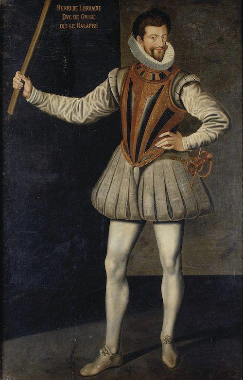 """Prince Henri Ier. """"Le Balafré"""" de Lorraine, 3e. Duc de Guise, Prince de Joinville et Comte d'Eu, Grand Maître et Pair de France (1550-1588)."""