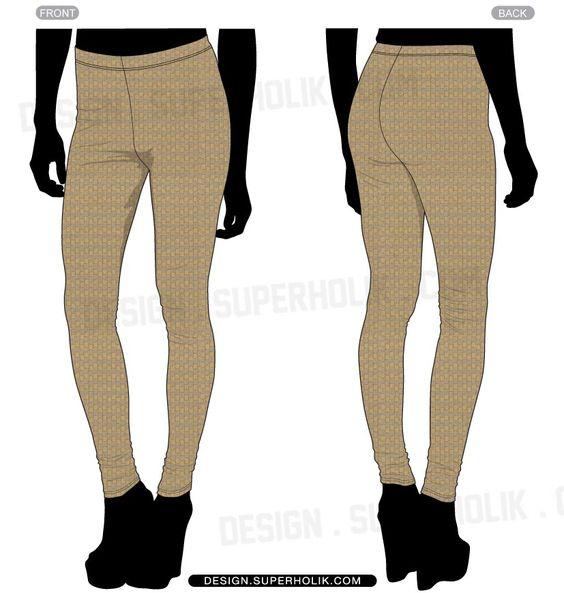 Leggings Vector Template Set Fashion Templates Pinterest