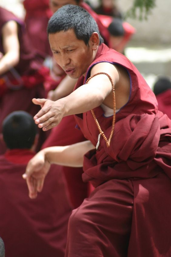 Monks in the Sera Monastery, Tibet