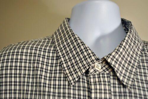 GU Men's Mens SEAN JOHN BLACK WHITE CHECK DRESS Short sleeved shirt 3XL XXX big $32.99