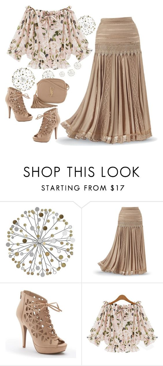 """Untitled #193"" by lovelyluella ❤ liked on Polyvore featuring Apt. 9 and Yves Saint Laurent"