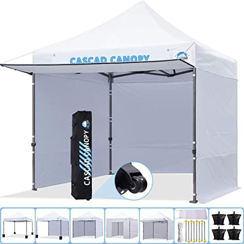 Enjoy Exclusive For Cascad Canopy 10 X10 Ez Pop Up Canopy Commercial Instant Tent Shelter Diy Banner Heavy Duty Roller Bag 4 Removable Sidewalls 1 Canopy A In 2020 Instant Tent White