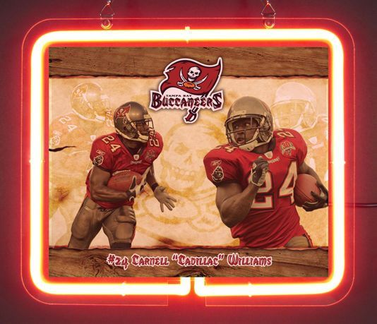 Tampa Bay Buccaneers Carnell Cadillac Williams Neon Light Sign
