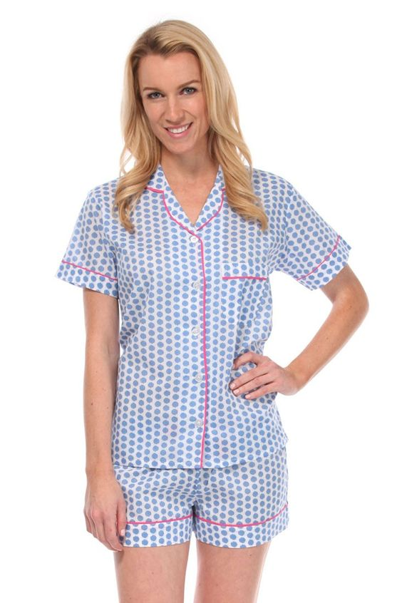 Maisie Blue Summer Pajama Set