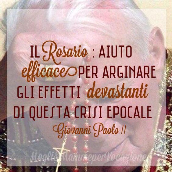 Maria ci insegna a pregare. Impariamo da lei cinque atteggiamenti - Mogli & Mamme per Vocazione #GiovanniPaoloII #johnpaulii #rosary #pope #quote: