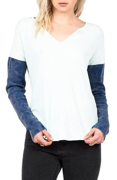 Enhance your casual look with this fun colorblock tee!