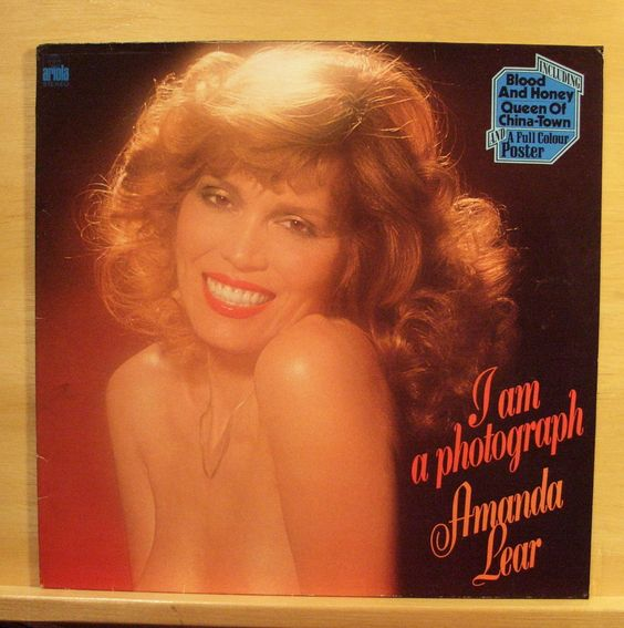 AMANDA LEAR - I am a Photograph - Vinyl LP - Nude POSTER - Blood and Honey - RAR