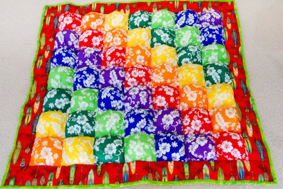 NEW  Bright and Cheerful Puff Quilt Great for by SewStephStudios