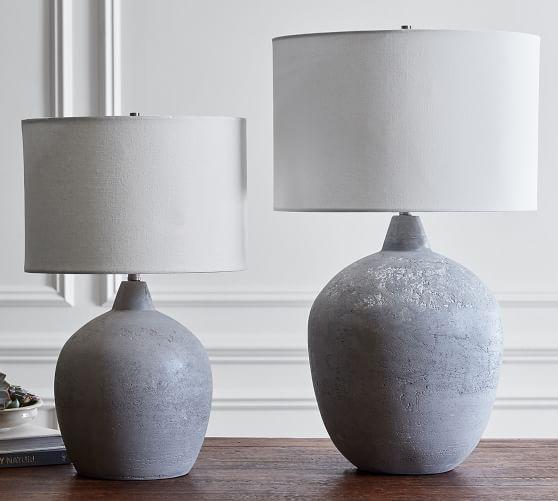 Maddox Ceramic 23 5 Table Lamp Base Rustic Gray Pottery Barn In 2020 Table Lamp Lamp Table Lamp Base