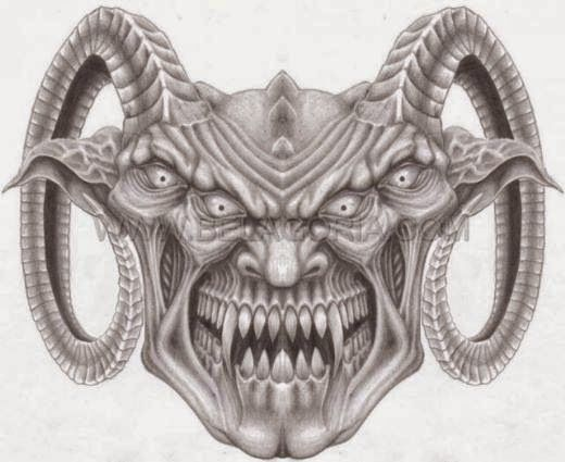 Disenos De Demonios Y Diablos Belagoria La Web De Los Tatuajes Dark Art Tattoo Scary Drawings Gas Mask Art