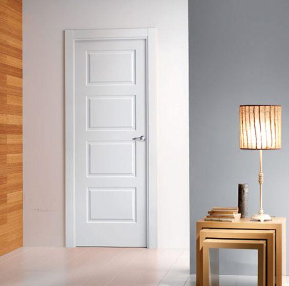 Puerta lacada blanca modelo lacada 4212 puerta pinterest for Puertas madera blancas precios