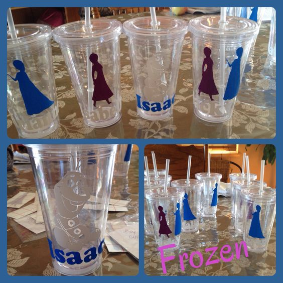 Frozen cups as party favors